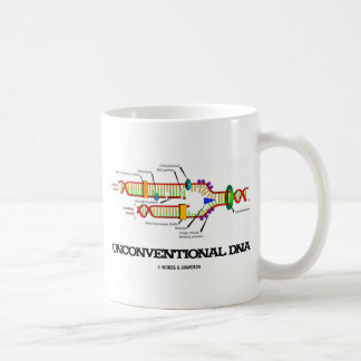 Unconventional DNA (DNA Replication Humor) Basic White Mug
