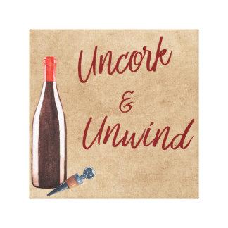 Uncork & Unwind Typography Wine Lovers Wall Art