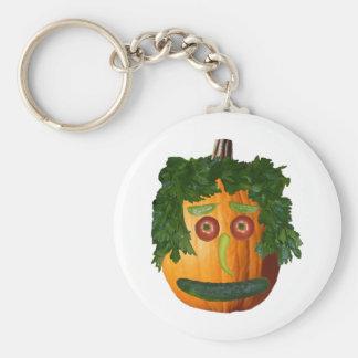 Uncut Pumpkin Face Keychain
