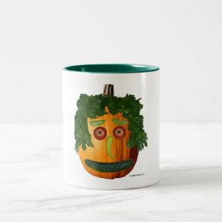 Uncut Pumpkin Face Mug