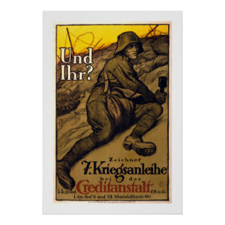 Und Ihr? - 7th War Loan (white) Poster