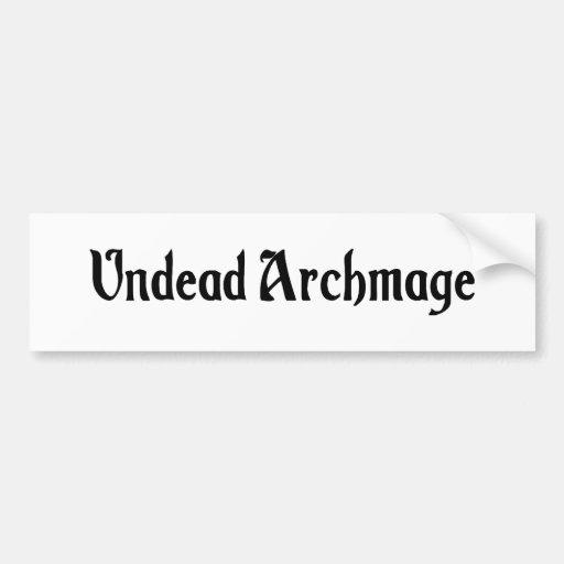 Undead Archmage Sticker Bumper Stickers