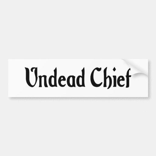 Undead Chief Bumper Sticker