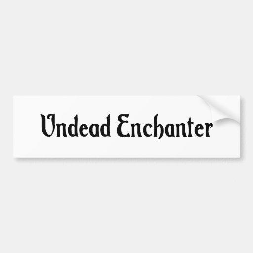 Undead Enchanter Bumper Sticker