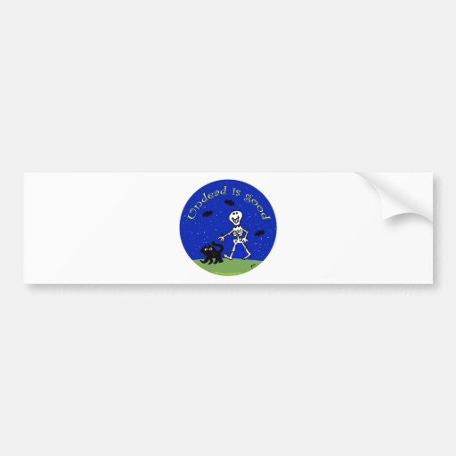 undead is good skeleton life bumper stickers