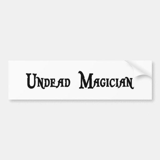 Undead Magician Sticker Bumper Sticker