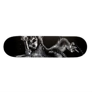 Undead Monkey with Harmonica Custom Skateboard