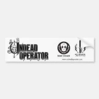 Undead Operator Bumper Sticker