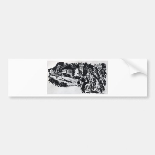 Undead Rising Bumper Sticker