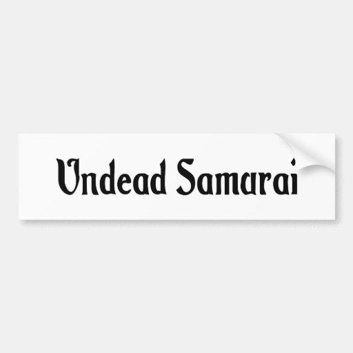 Undead Samurai Bumper Sticker