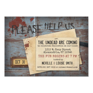 Undead Zombie Halloween | Creepy Invitation