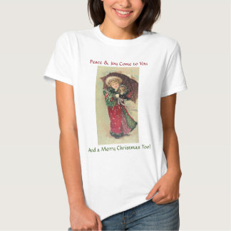 Under $20: Victorian Girl & Puppy Christmas Tshirts