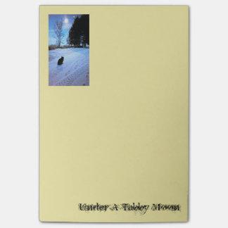 Under A Tabby Moon Notepad