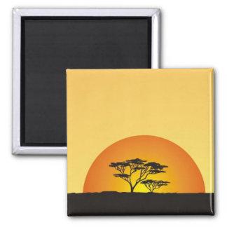 Under African skies: Africa Sunset Magnet
