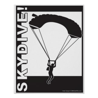 Under Canopy SkyDive! Poster