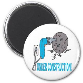 Under Construction 6 Cm Round Magnet