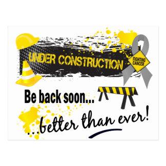 Under Construction Brain Cancer Postcard