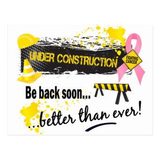 Under Construction Breast Cancer Postcards