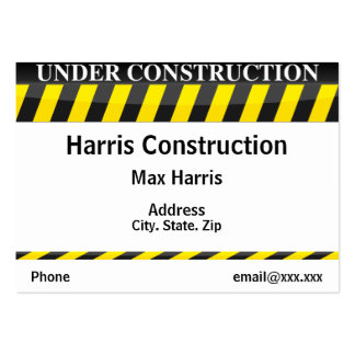Under Construction Business Card Templates