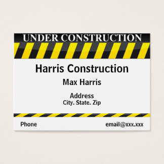 Under Construction Business Card