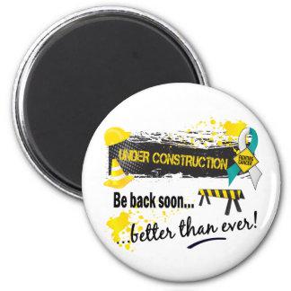 Under Construction Cervical Cancer 6 Cm Round Magnet