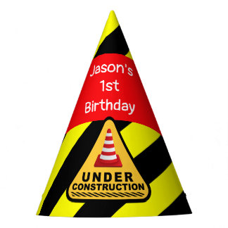 Under construction Concrete mixer Birthday party Party Hat