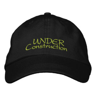 Under Construction Embroidered Baseball Cap