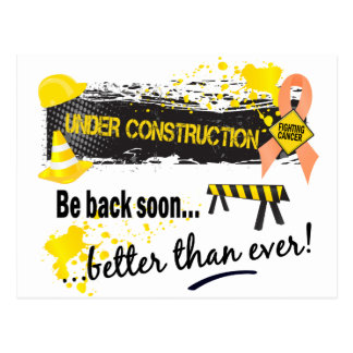 Under Construction Endometrial Cancer Postcard