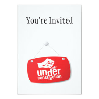 Under Construction Fist Pound Sign Card