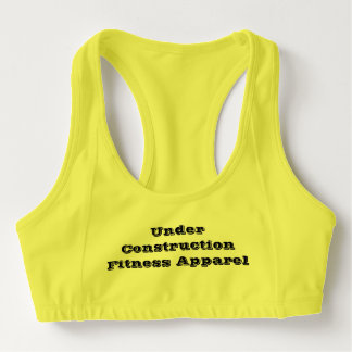 Under Construction Fitness Apparel Neon Sports Bra