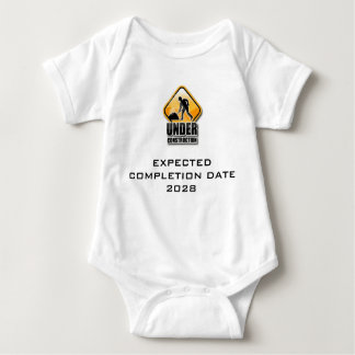 Under Construction Funny Baby Grow Baby Bodysuit