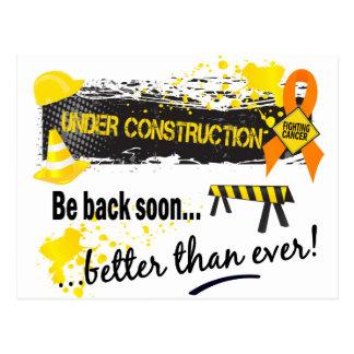Under Construction Leukaemia Postcard