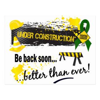 Under Construction Liver Cancer Postcard