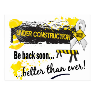 Under Construction Lung Cancer Postcard
