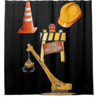 Under construction man cave showercurtain shower curtain