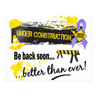 Under Construction Oesophageal Cancer Postcard