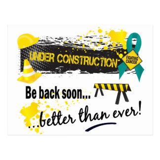 Under Construction Ovarian Cancer Post Cards