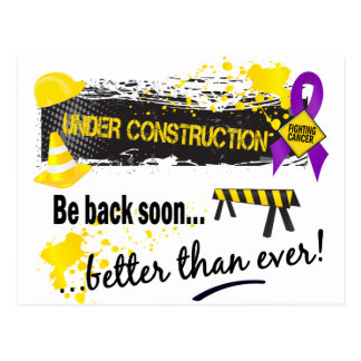 Under Construction Pancreatic Cancer Postcards