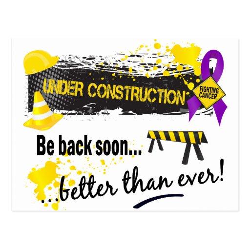 Under Construction Pancreatic Cancer Postcards