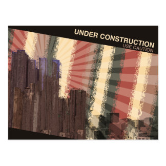 Under Construction Post Card
