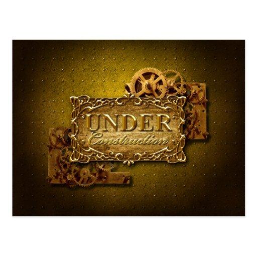 Under Construction Postcard