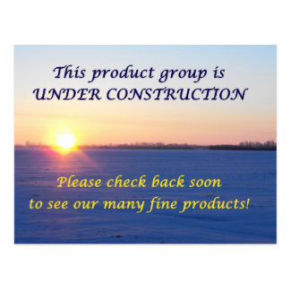 Under Construction Post Cards