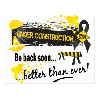 Under Construction Skin Cancer Postcards