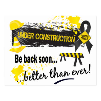 Under Construction Skin Cancer Postcard