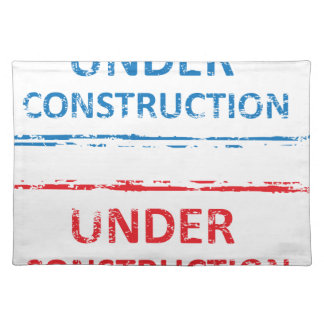 Under Construction Stamp Placemat