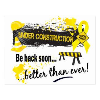 Under Construction Testicular Cancer Post Card