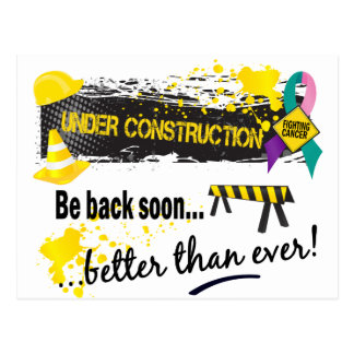 Under Construction Thyroid Cancer Postcard
