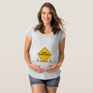 Under Construction with Cones Maternity T-Shirt