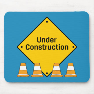 Under Construction with Cones Mouse Pad
