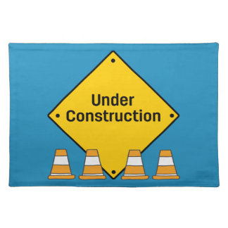 Under Construction with Cones Placemat